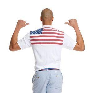 Vineyard Vines Classic-Fit American Flag Shep Polo